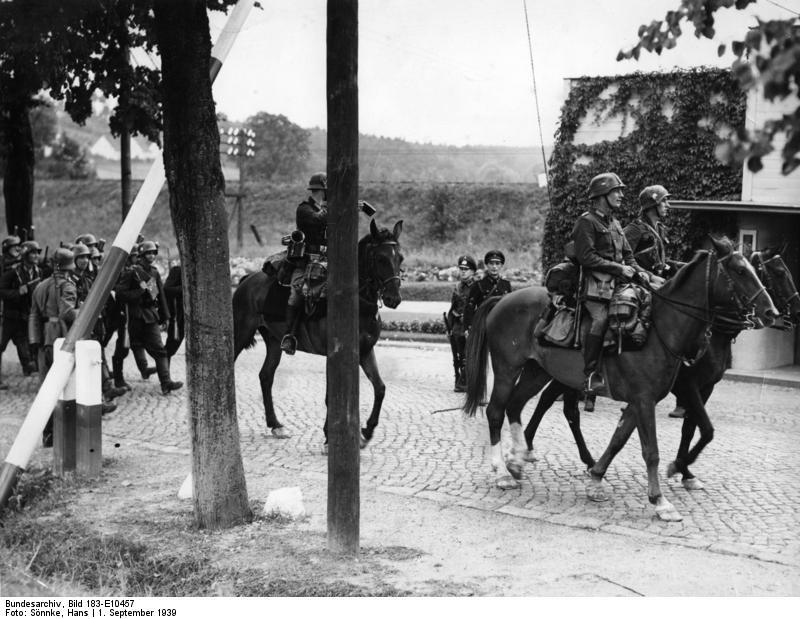 Cavaleiros alemães na invasão da Polônia